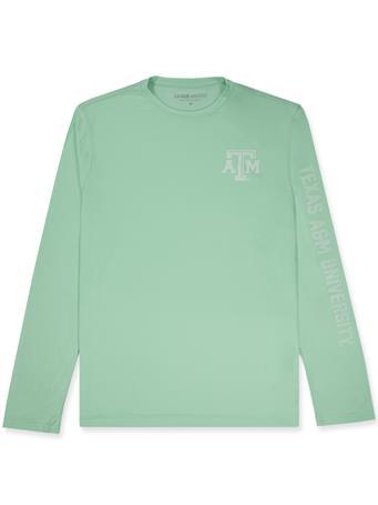 Texas A&M League Lightweight Cool Mint Green Long Sleeve Tee