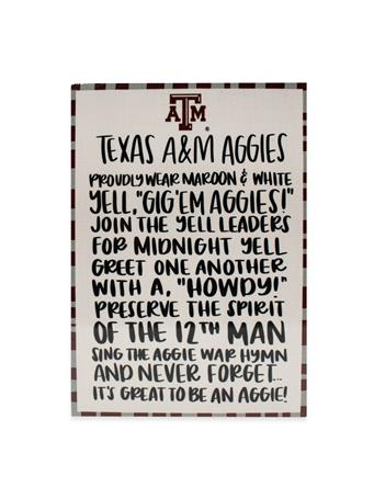 Texas A&M Aggies Fan Wooden Block
