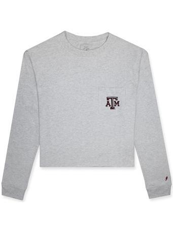 Texas A&M League Clothesline Cotton Long Sleeve Midi Shirt