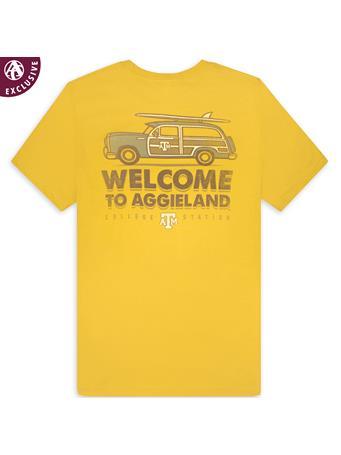 Texas A&M Welcome to Aggieland Car & Surfboard T-Shirt