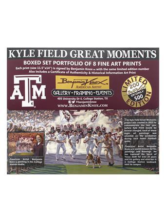 Texas A&M Benjamin Knox Kyle Field Great Moments Prints Set