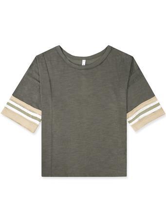 Wishlist Striped Casual Half-Sleeve Top