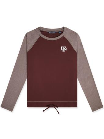 Texas A&M Cutter & Buck Ladies Hybrid Pullover