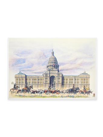 Benjamin Knox Texas State Capitol Single Note Card