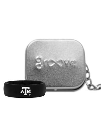 Texas A&M Groove Black Thick Band ATM Logo