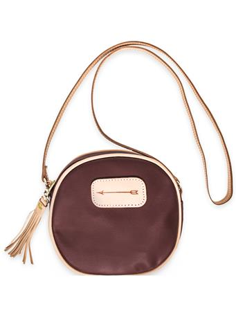 Maroon Jon Hart Luna Arrow Crossbody Bag