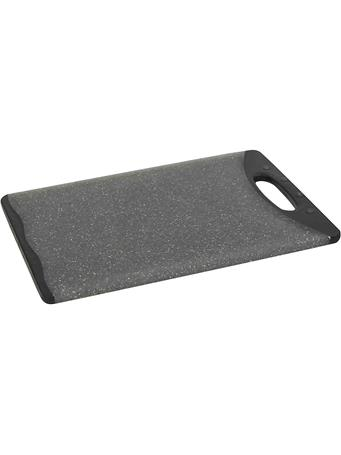 HOME BASICS - Grey & Black Dual Sided Cutting Board With Handle 8
