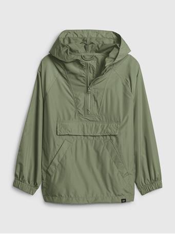 GAP - Kids Packable Anorak Jacket PERIDOT
