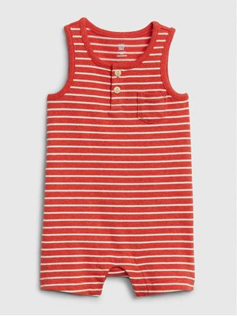 GAP - Baby Tank Shorty Striped One-Piece BUOUY-RED
