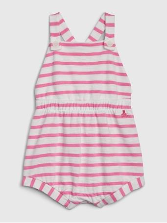 GAP - Baby Striped Shortall WHITE-SPACE