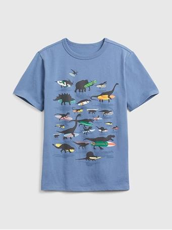GAP - Kids Graphic Short Sleeve T-shirt Blue BAINBRIDGE-BLUE