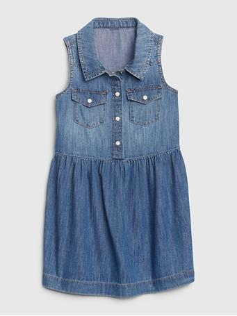 GAP - Toddler Sleeveless Denim Dress {#color}