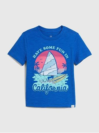 GAP - Short Sleeve Better Graphic T-Shirt ADMIRAL BLUE