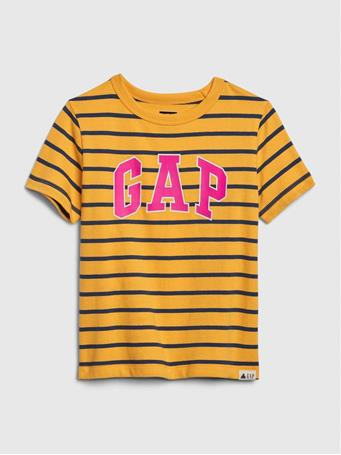 GAP - Toddler Short Sleeve Logo Stripe KAYAK