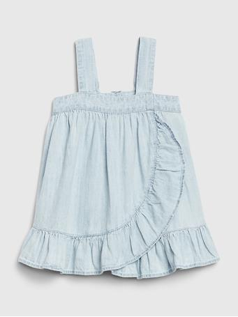 GAP -  Baby GAP Denim Ruffle Dress LIGHT-WASH