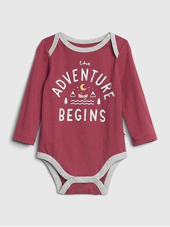 GAP - Baby Long Sleeve Graphic Bodysuit NEW-OFF-WHITE