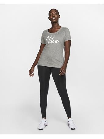 NIKE - Short Sleeve Scoop Nike Logo Tee DK-GRY-HTHR