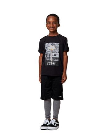 HIND - 2 Piece Short Sleeve Shirt and Shorts set BLACK