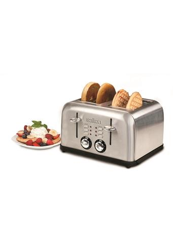 SALTON - Stainless Steel 4 Slice Toaster  No-Color