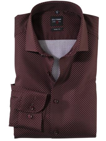 OLYMP - Long Sleeve Dress Shirt Royal Kent MAROON