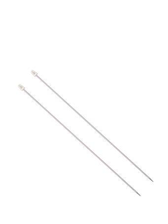 SUSAN BATES - Knitting Needles SILVER-PINK2