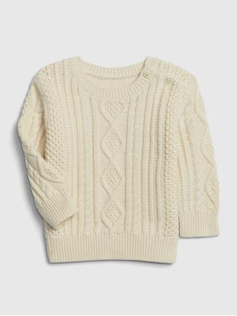 GAP - Baby Cable Knit Sweater FRENCH VANILLA