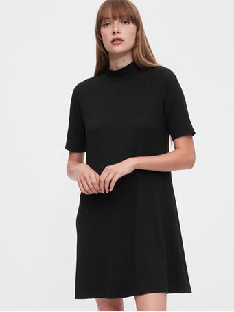 GAP - Mockneck Swing Dress TRUE BLACK V2 2