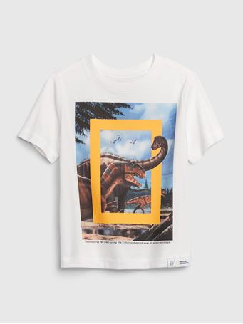 GAP - babyGap | National Geographic Organic Graphic T-Shirt NEW OFF WHITE