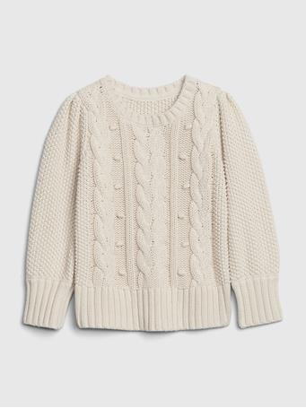 GAP - Toddler Cable Knit Sweater SOFT-IVORY
