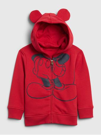 GAP - babyGap | Disney Mickey Mouse Hoodie MODERN RED 2