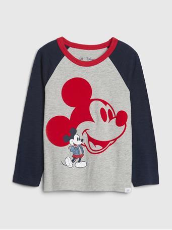 GAP - babyGap | Disney Mickey Mouse Long Sleeve T-Shirt HEATHER GREY