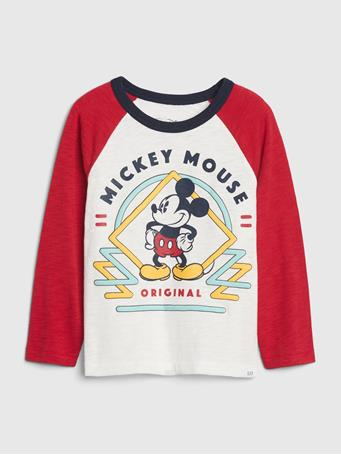 GAP - babyGap | Disney Mickey Mouse Long Sleeve T-Shirt NEW OFF WHITE