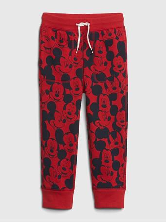 GAP - babyGap | Disney Mickey Mouse Pull-On Joggers MODERN RED 2