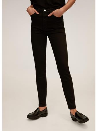 MANGO - Noa Skinny High Waist Jeans BLACK