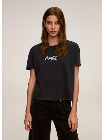 MANGO - Coca Cola T-Shirt DARK-GREY