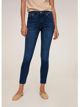 MANGO - Isa Crop Skinny Jeans NAVY