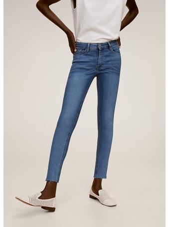 MANGO - Isa Crop Skinny Jeans MEDIUM-BLUE