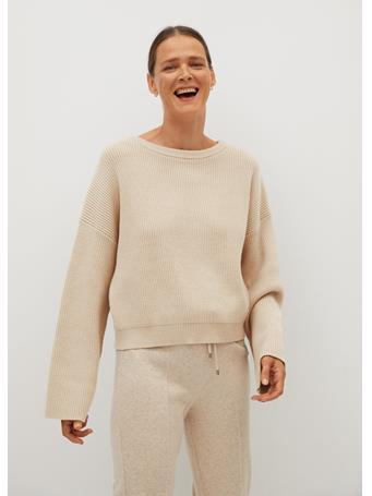 MANGO - Ribbed Knit Toti Sweater LIGHT-BEIGE