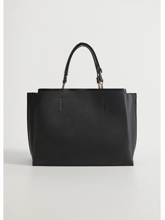 MANGO - Sonia Shopper Bag BLACK