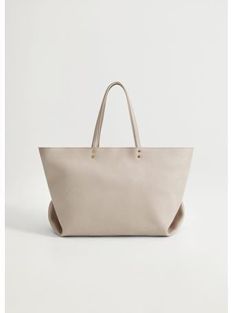 MANGO - Eva Shopper Bag LIGHT-PASTEL-GRAY