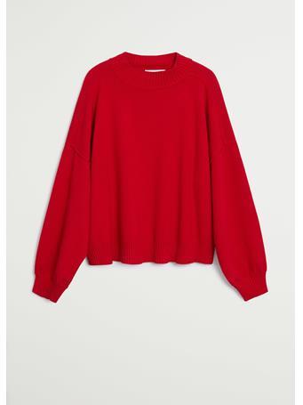 MANGO - Ylenia Oversize Sweater BRIGHT-RED