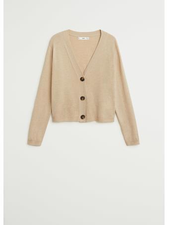 MANGO - Nanty Button Knit Cardigan LIGHT-BEIGE