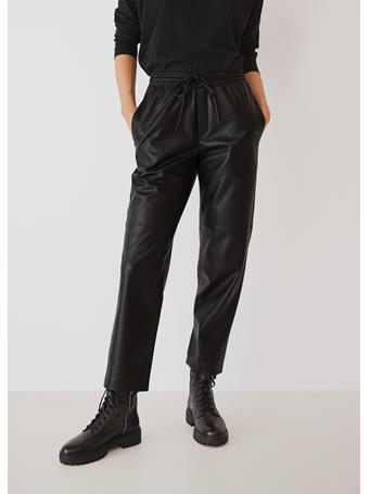 MANGO - Apple Leather-Effect Trousers BLACK