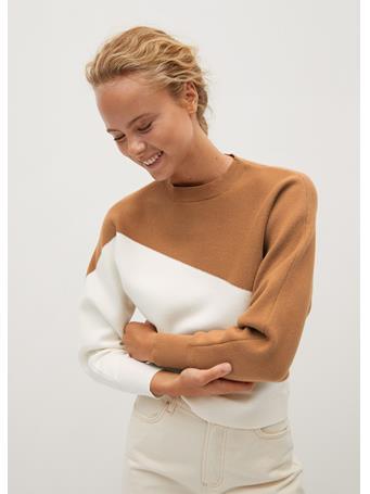 MANGO - Space Sweater MEDIUM-BROWN
