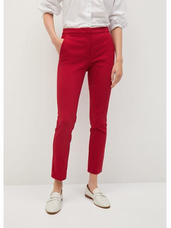 MANGO - Cola Crop Skinny Trousers BRIGHT-RED