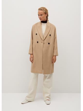 MANGO - Bartoli Wool Coat MEDIUM-BROWN