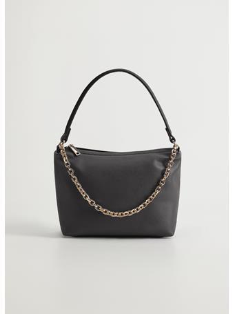 MANGO - Danish Chain Baguette Bag BLACK