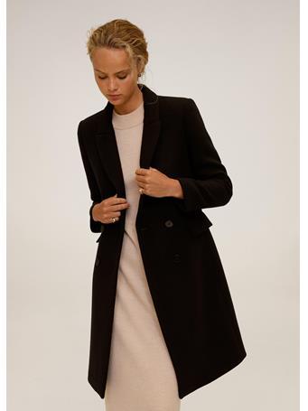 MANGO - Dali Wool Coat BLACK