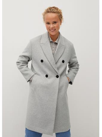 MANGO - Bartoli Wool Coat LT-PASTEL-GREY