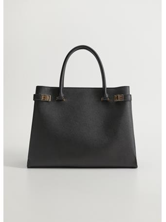 MANGO - Smart Tote Bag BLACK